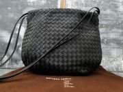 Bottega Veneta Black Nappa Intrecciato Shoulder Bag