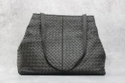Bottega Veneta Black Nappa Intrecciato Large Shoulder Bag