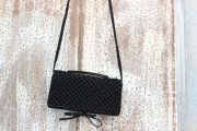 Bottega Veneta Black Suede 3 Way Clutch Cross Body Bag