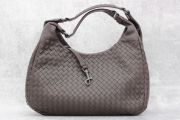 Bottega Veneta Brown Intrecciato Medium Campana Bag