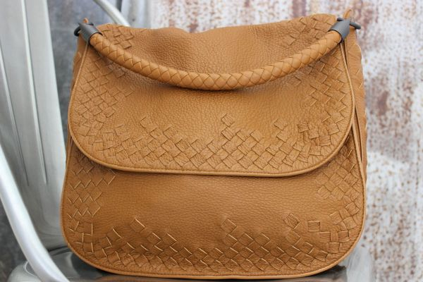 Bottega Veneta Intrecciato Detailed Flap Shoulder Bag