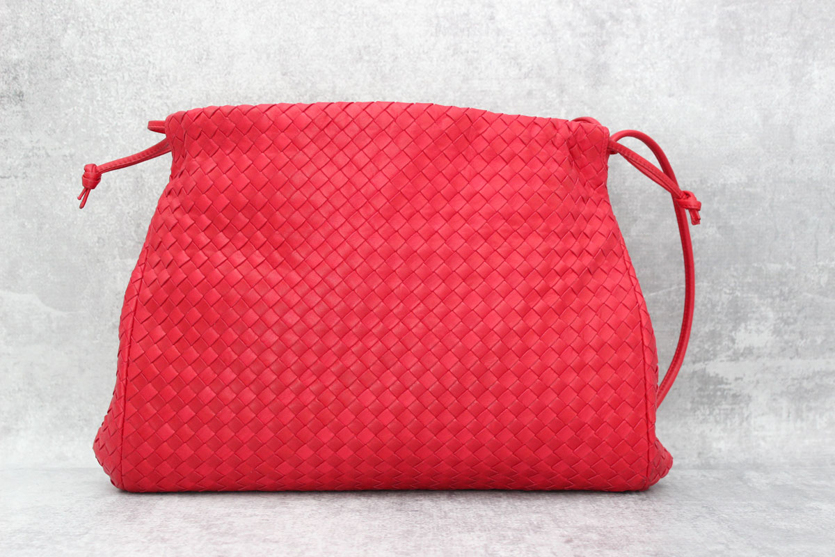 428ec5e382 Bottega Veneta Red Nappa Intrecciato Large Shoulder Bag. Touch to zoom