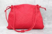 Bottega Veneta Red Nappa Intrecciato Large Shoulder Bag