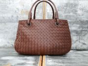 Bottega Veneta Ebano Nappa Intrecciato Small Tote Bag