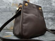 Bottega Veneta Brown Pressed Leather Shoulder Bag