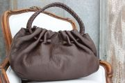 Bottega Veneta Brown Pebbled Leather Bag