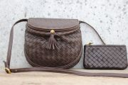 Bottega Veneta Ebano Intrecciato Small Crossbody Bag