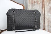 Bottega Veneta Nero Intrecciato Nappa Chain DUO Bag