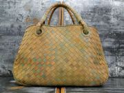 Bottega Veneta Multicolor Woven Intrecciato Tote Bag
