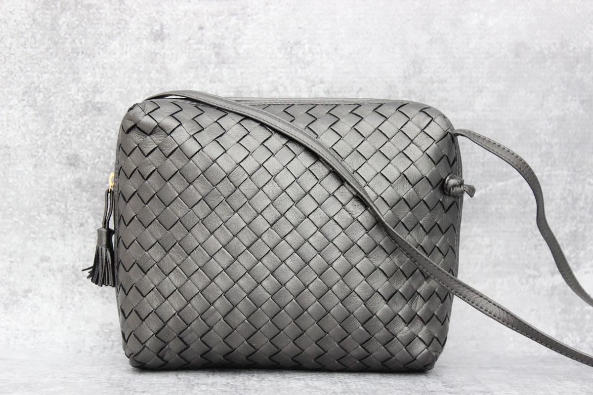 627c67382f Bottega Veneta Vintage Nappa Intrecciato Pillow Bag. Tap to expand
