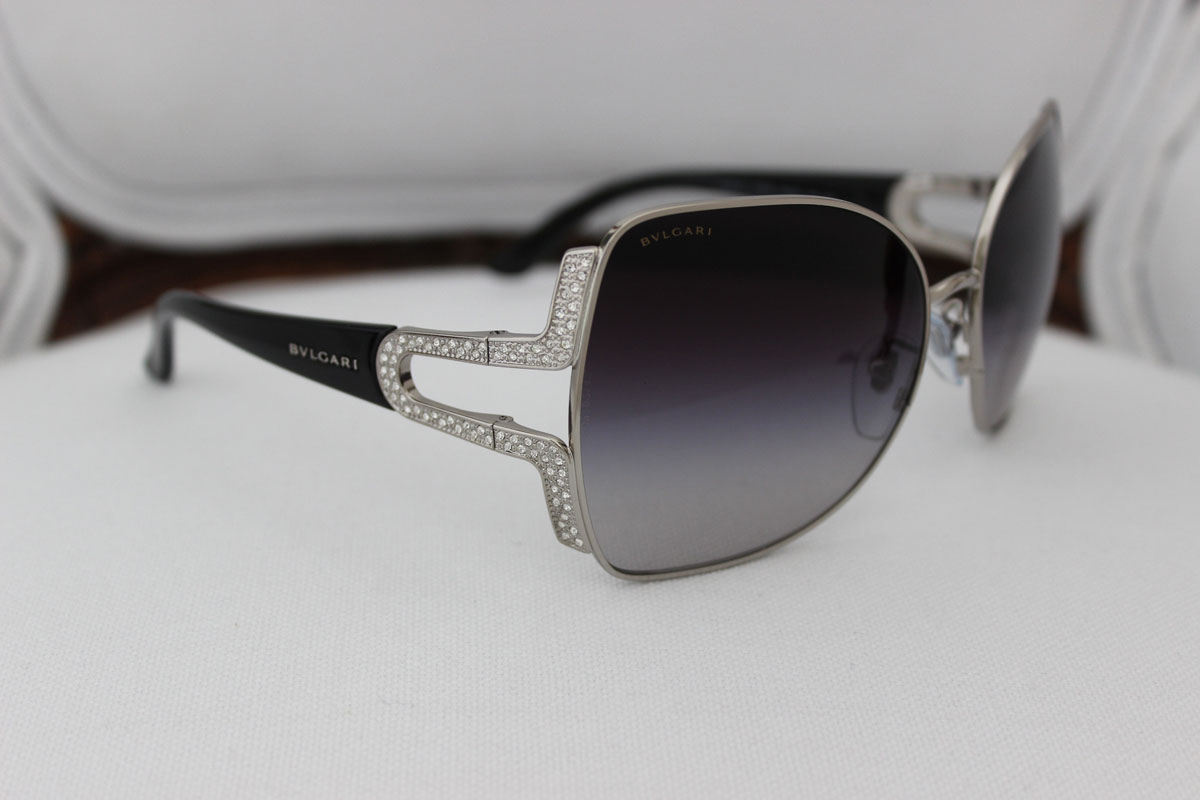Bvlgari Swarovski Crystal Cat Eye Sunglasses