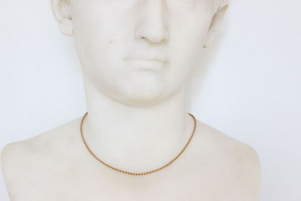 Cartier 1991 18K Yellow Gold Woven Chain Necklace