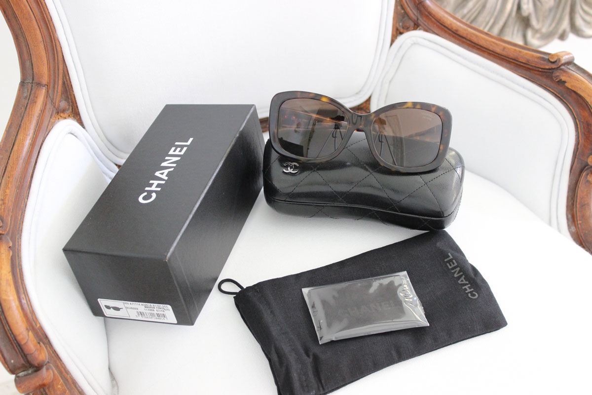 0acb7afadd Chanel 5322 Marron Fonce Tortoise Sunglasses at Jill s Consignment