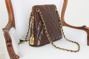 Chanel brown quilted lambskin RUE CAMBON CC Charm Chain Shoulder Bag