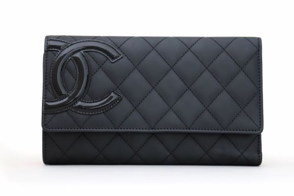 Chanel Black Cambon Flap Wallet