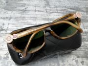 Chanel Tortoise Cat Eye Pink CC Bouton Collection Sunglasses