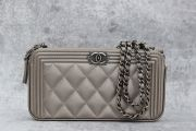 Chanel Boy Clutch with Chain