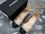 Chanel Cap Toe CC Low Heel Pump