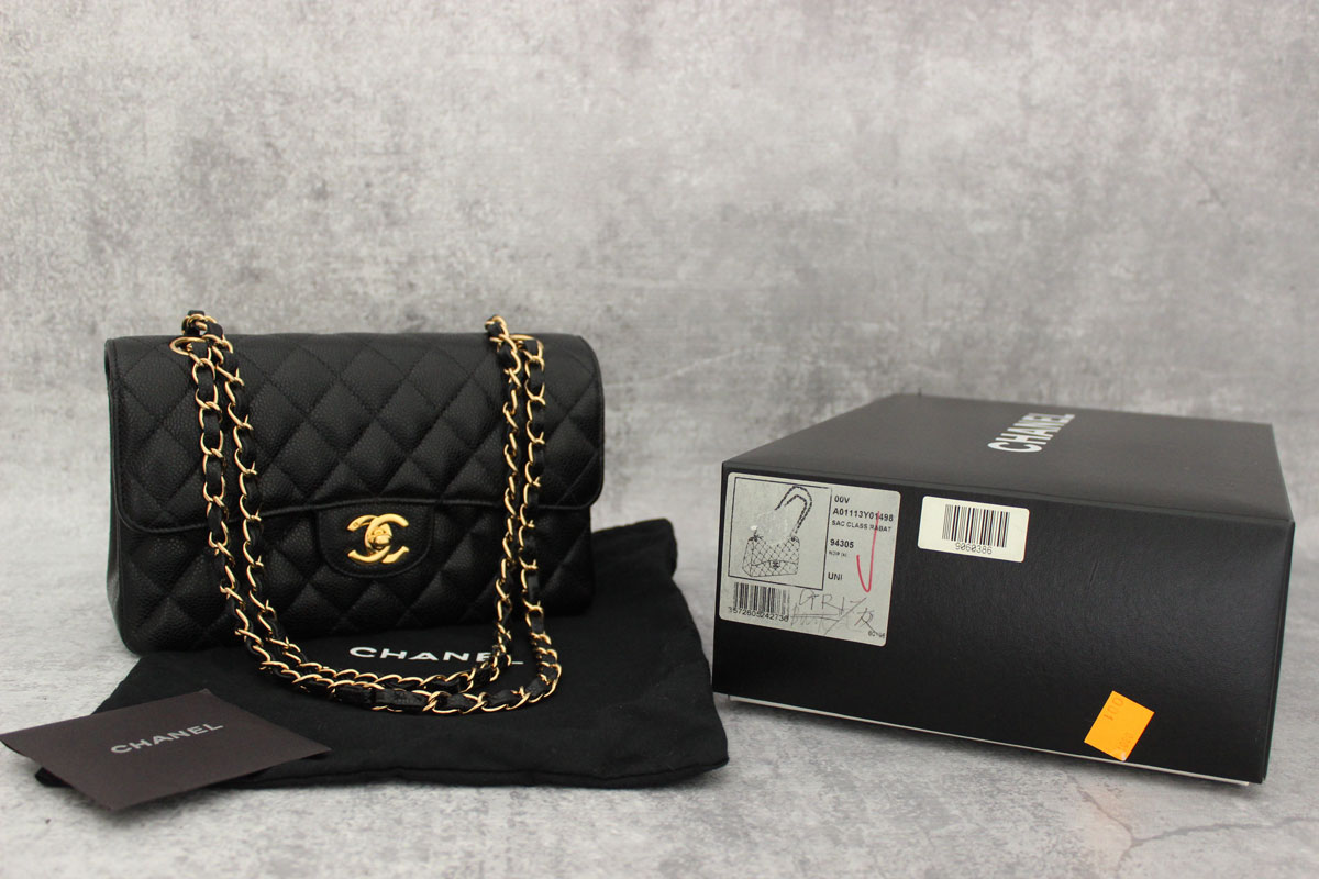 bc888d59b83e Chanel Small Caviar Classic Double Flap Bag Black at Jill's Consignment
