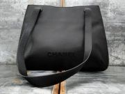 Chanel Vintage Caviar Leather Shoulder Bag Tote Black CHANEL
