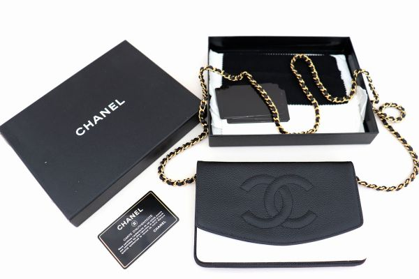 Chanel Black Caviar Timeless Wallet on Chain WOC