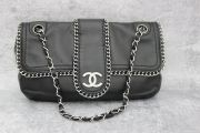 Chanel Black Lambskin Chain Me Around Flap Bag