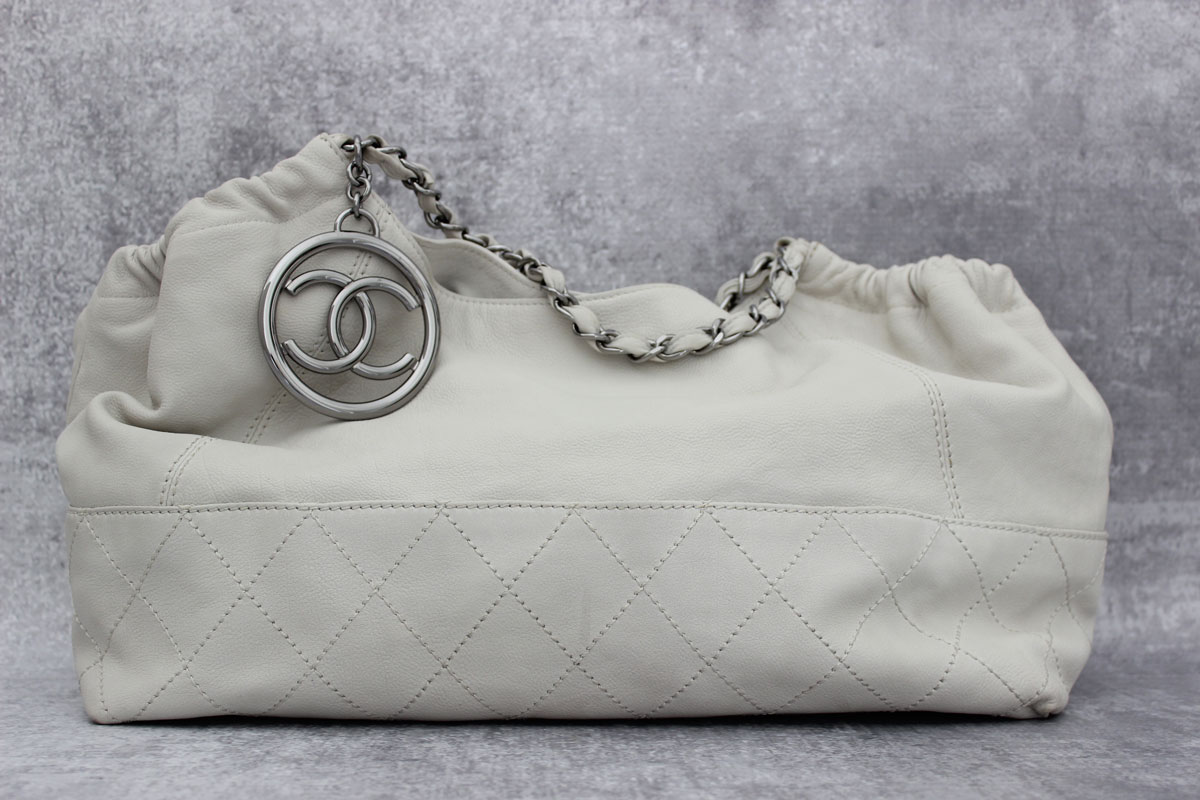 Chanel Off White Coco Cabas Shoulder Bag Tap To Expand