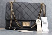 Chanel 12A Black COSMOS Flap Bag