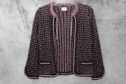 Chanel Multi Color Crochet Knit Jacket 36