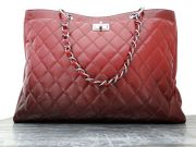Chanel Burgundy Degrade Glazed Caviar Leather XL Mademoiselle Tote Bag