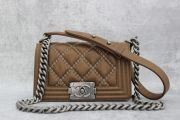 Chanel Double Stitch Beaded Small Boy Bag