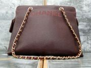 Chanel 98A Caviar Leather Shoulder Bag Bordeaux