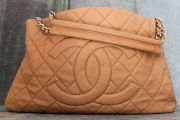Chanel Expandable Zip Around Quilted Caviar Leather Tote