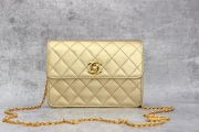 Chanel Gold Quilted Lambskin Mini Flap Bag