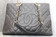 Chanel Black Caviar Grand Shopping Tote GST