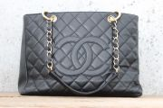 "Chanel Black GST Grand Shopping Tote ""AS IS"""