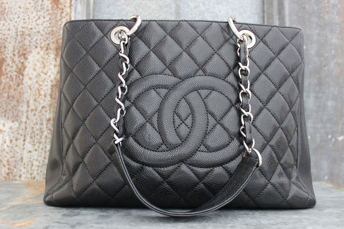 d35184ead7ae Chanel GST Grand Shopping Tote Black Caviar. Tap to expand