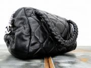 Chanel Black Quilted Lambskin HIDDEN CHAIN Small Bowler Tote Bag