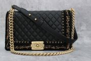 Chanel Lambskin & Tweed Jacket Boy Bag