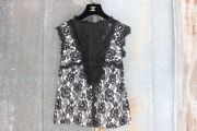 Chanel Black Lace Sleeveless Top 36 4