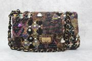 Chanel Paris Byzance Limited Edition Lesage Tweed Jeweled Flap Bag