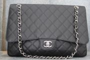 Chanel MAXI Black Caviar Single Flap Bag