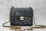 Chanel Black Patent Leather Mini Flap Bag