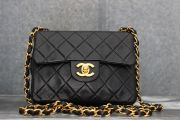 Chanel Classic Vintage Lambskin Mini Flap Bag Black