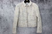 Chanel Light Beige Multicolor Thread Jacket 34