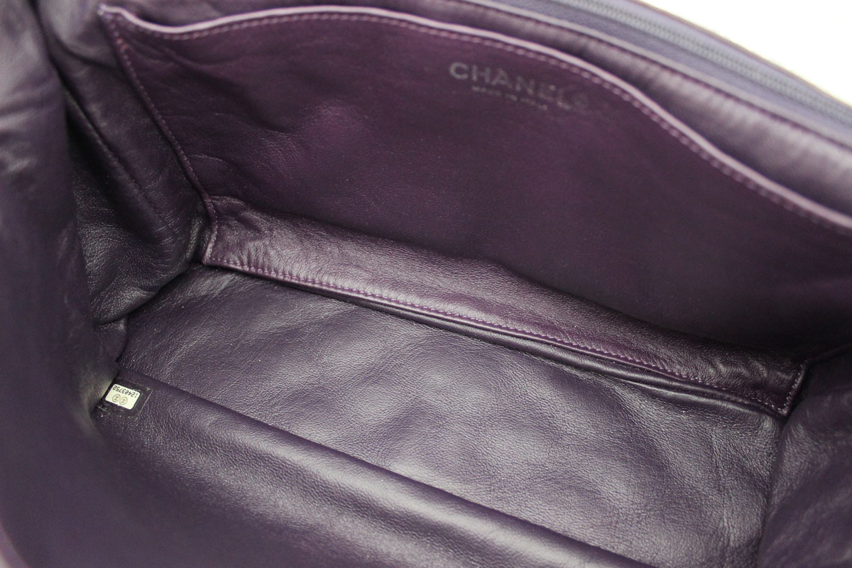 6e8a2247 Chanel Purple Quilted Washed Lambskin Jumbo Single Flap at Jill's ...