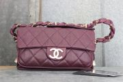 Chanel Purple Lambskin 'LADY BRAID' Flap Bag