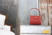 Chanel Red NEVER CARRIED Quilted Canvas Tote Bag