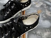 Chanel Black Lace Leather Sneakers 39
