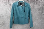 Chanel Teal Lambskin Jacket Size 40